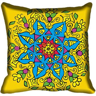 meSleep Blue Floral Digital Printed Cushion Cover 20x20
