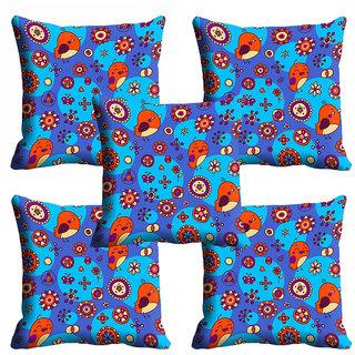 meSleep Blue Bird Nature Cushion Cover (12x12)