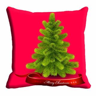 meSleep 3D Christmas Tree Cushion Cover (20x20)