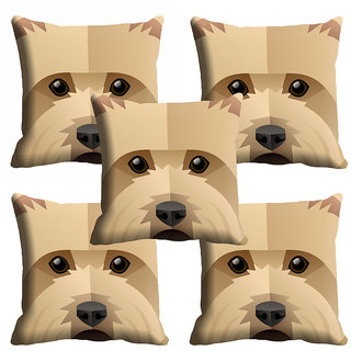 meSleep 3D Dog Face Cushion Cover (20x20)