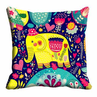 meSleep Multi Color Cushion Cover (12x12)