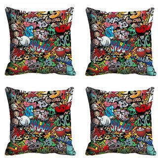 meSleep 3D Funny Cartoons Cushion Cover (20x20)