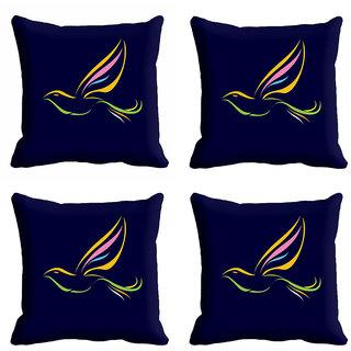 meSleep Black Bird Nature Cushion Cover (12x12)