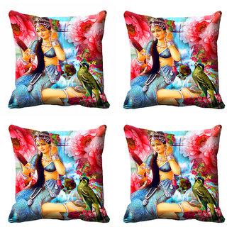 meSleep 3D Multi Colour Nature Cushion Cover (12X12)