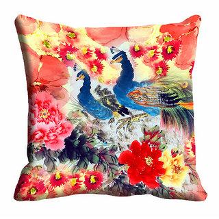 meSleep Multi Colour Beautiful Nature Cushion Cover (20x20)