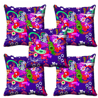 meSleep 3D Multi Colour Cushion Cover (12X12)