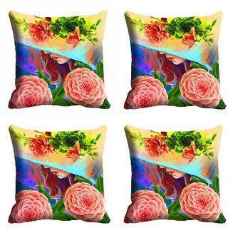 meSleep 3D Multi Colour Nature Cushion Cover (20x20)