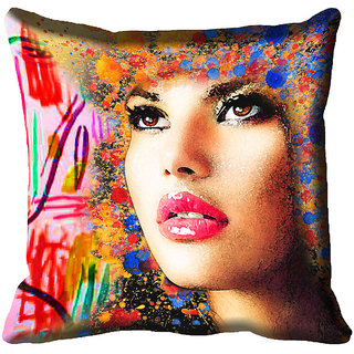 Buy meSleep Girl Face Digital Printed Cushion Cover 12x12 Online ... 897b039b3