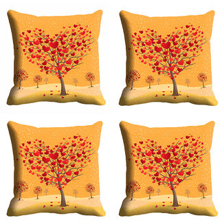 meSleep 3D Heart Tree Cushion Cover (20x20)