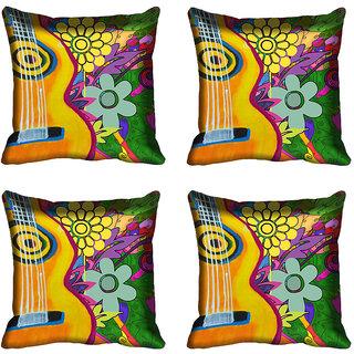 meSleep Guitar Digital Printed Cushion Cover (20x20)