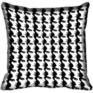 meSleep Abstract Face Digital Printed Cushion Cover 18x18