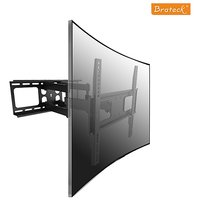 Daul Arm Curved  Flat Panel TV LCD LED Wall Mount 50inch Tilt / Swivel, VESA Bracket