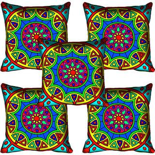 meSleep Multi Color Digital Printed Cushion Cover 12x12