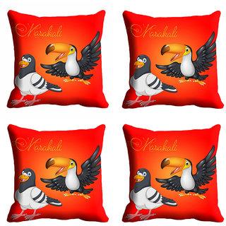 meSleep Red 3D Maskali Cushion Cover (20x20)