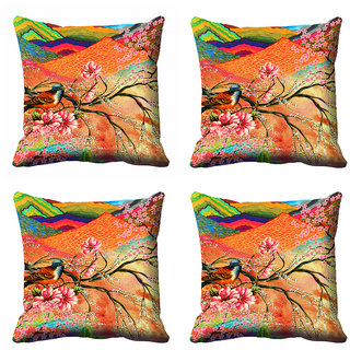 meSleep Abstract Floral Cushion Cover (12X12)