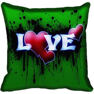 meSleep Love Digital printed Cushion Cover (18x18)