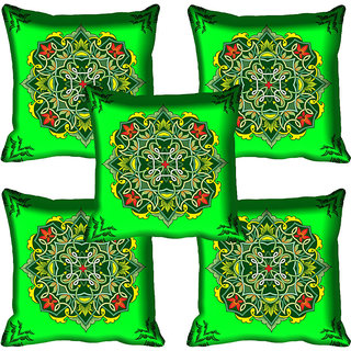 meSleep Green Digital Printed Cushion Cover 18x18
