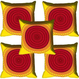 meSleep Red Digital Printed Cushion Cover 18x18