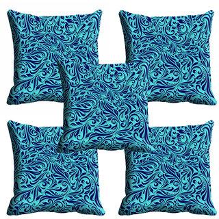 meSleep Blue Abstract Cushion Cover (18x18)
