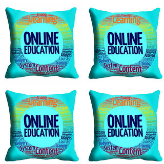 meSleep Blue Online Education Cushion Cover (20x20)