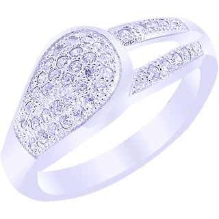 Elotic 925 Sterling Silver Rhodium Ring For Women  Girls