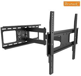 Daul Arm Curved Flat Panel TV LCD LED Wall Mount 32inch Tilt / Swivel, VESA Bracket (LPA36-443A)