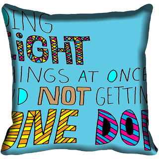 meSleep Quotes Digitally Printed Cushion Cover (20x20)
