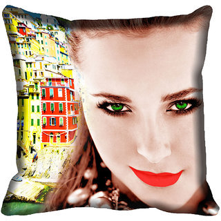 Buy meSleep Girl Face Digital Printed Cushion Cover 20x20 Online ... 4e84b76a9