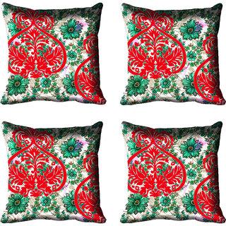 meSleep Floral Digital Printed Cushion Cover 12x12