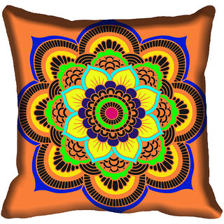 meSleep Multi Floral Digital Printed Cushion Cover 12x12