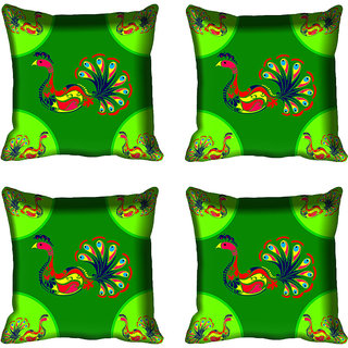 meSleep Beautiful Peacock Design Digital Printed Cushion Cover 20x20