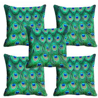 meSleep 3D Peacock Wings Cushion Cover (18x18)