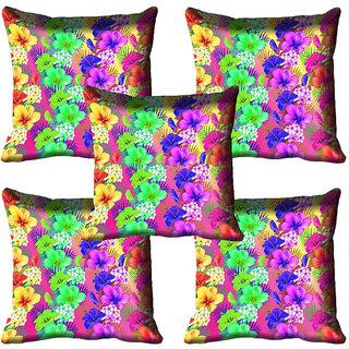 meSleep Floral Digital Printed Cushion Cover (12x12)