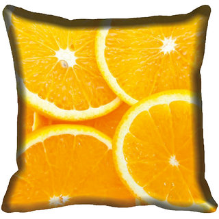 meSleep Orange Digital Printed Cushion Cover 20x20