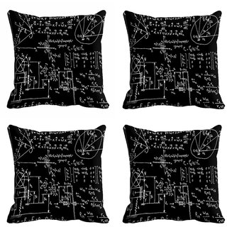 meSleep Black Abstract Cushion Cover (20x20)