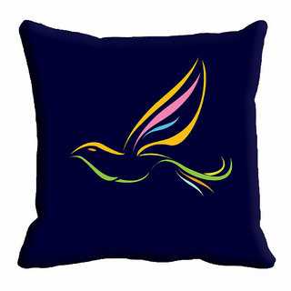 meSleep Black Bird Nature Cushion Cover (18x18)
