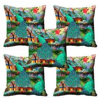 meSleep 3D Beautiful Nature Cushion Cover (12X12)