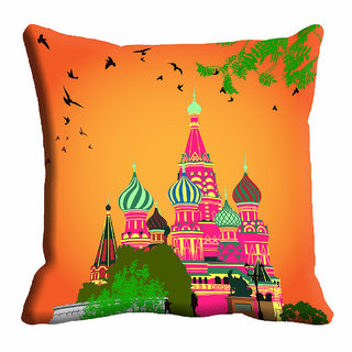 meSleep 3D Orange Cushion Cover (20x20)