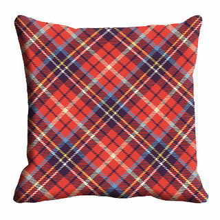 meSleep Multi Color Checks Cushion Cover (20x20)