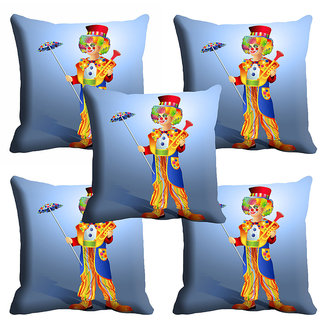 meSleep 3D Blue Joker Cushion Cover (20x20)