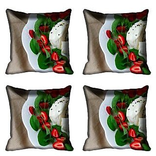 meSleep Food Digitally Printed Cushion Cover (20x20)