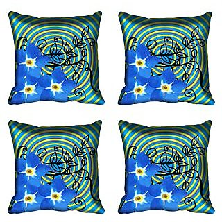 meSleep Floral Digital Printed Cushion Cover (20x20)