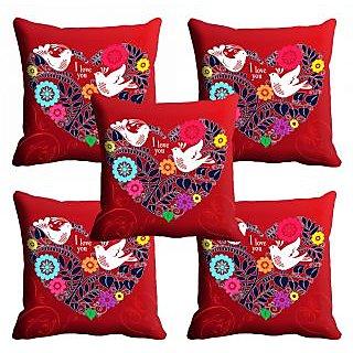 meSleep Beautiful Love Bird Cushion Cover (12x12)