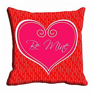 meSleep Red Be Mine Cushion Cover (20x20)