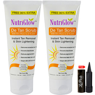 Nutriglow De Tan Scrub with Milk Proteins (Pack Of 2)