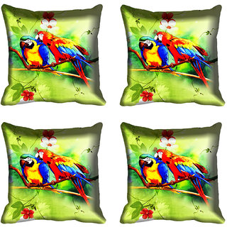 meSleep Love Bird Digitally Printed Cushion Cover (12X12)
