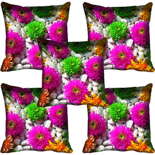 meSleep Floral Digital Printed Cushion Cover 12x12
