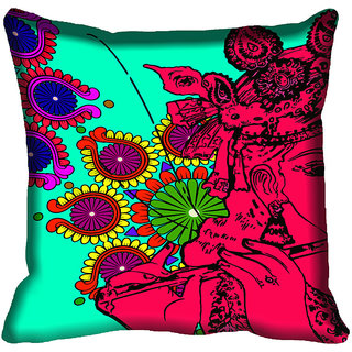 meSleep Beautiful Krishna Digital Printed Cushion Cover 12x12