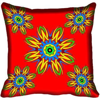 meSleep Floral Digital Printed Cushion Cover 20x20