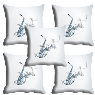 meSleep White Abstract Cushion Cover (18x18)